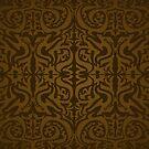 Etnic Pattern Brown by elangkarosingo