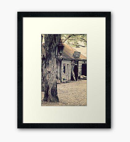 Australian Pioneer Village - Vintage Street Lamp Framed Print