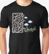 Escape (for dark t-shirt colours) Unisex T-Shirt