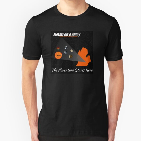 Metatron's Army - The Adventure Starts Here Slim Fit T-Shirt