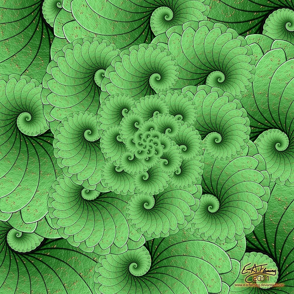 Lily Pad Spiral by rustydragonfly