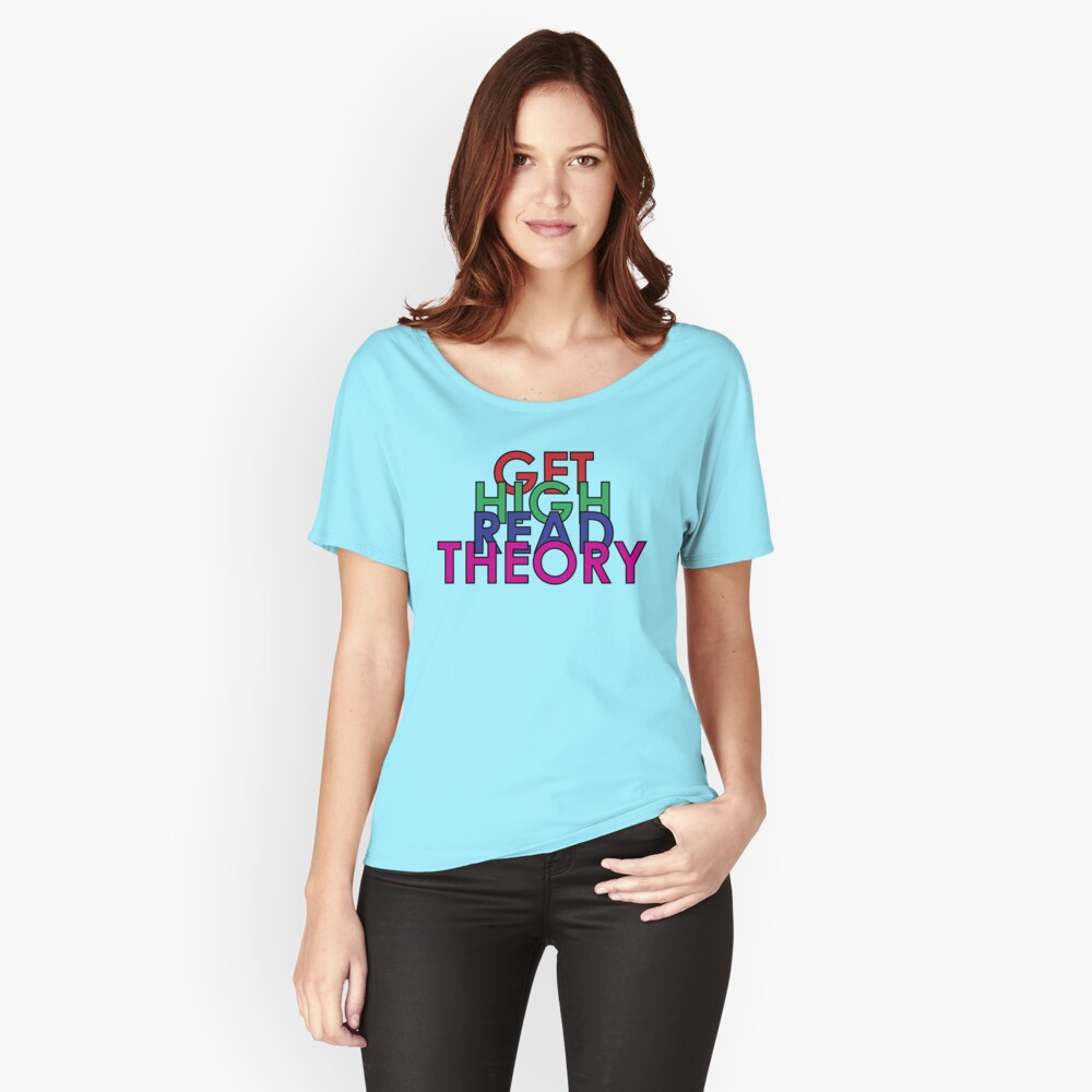 Get High Read Theory Multicolor Relaxed Fit T-Shirt