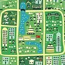 cartoon map of beijing by Anastasiia Kucherenko