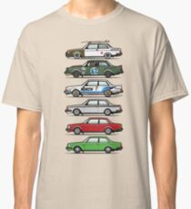 Stack Of Volvo 242 240 Series Brick Coupes Classic T-Shirt