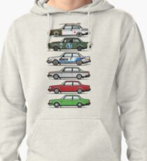 Stack Of Volvo 242 240 Series Brick Coupes Pullover Hoodie