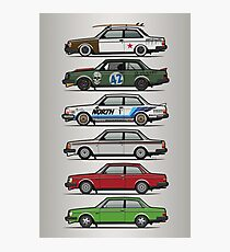 Stack Of Volvo 242 240 Series Brick Coupes Photographic Print