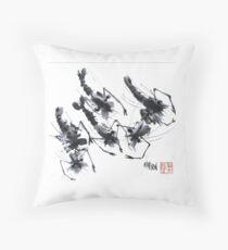 Sumi-e Shrimps represent Abundance! Throw Pillow