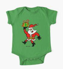 Santa Claus Brings a Gift One Piece - Short Sleeve