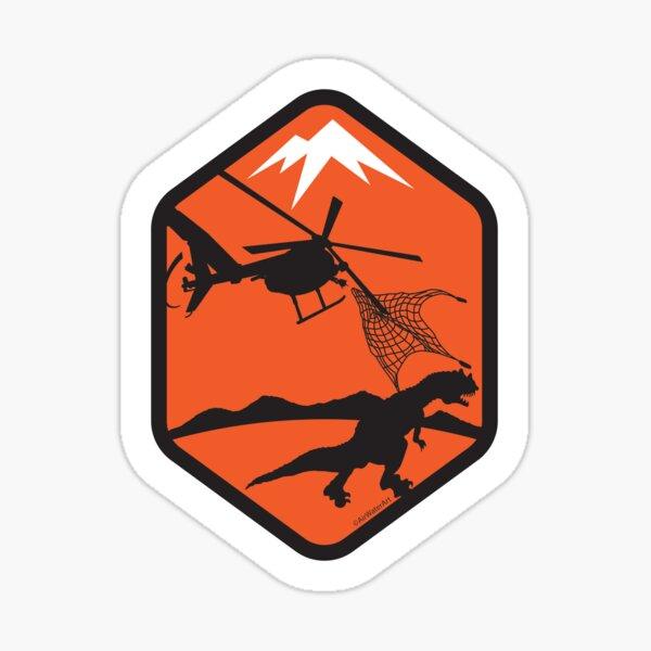 Helicopter Dinosaur Capture Sticker