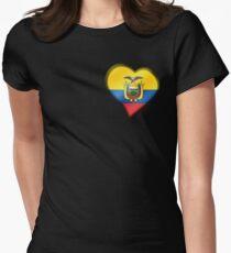 Ecuadorian Flag - Ecuador - Heart Womens Fitted T-Shirt