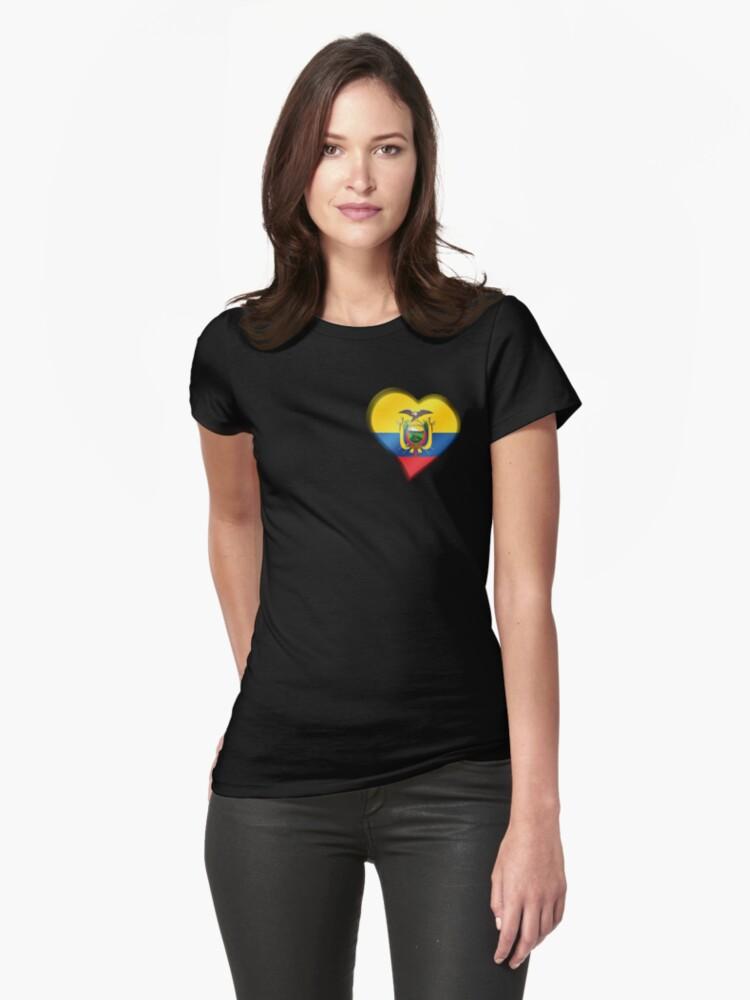 Ecuadorian Flag - Ecuador - Heart by graphix
