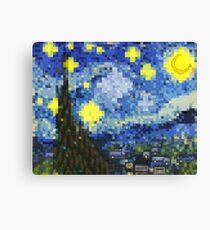 8-bit Starry Night Canvas Print