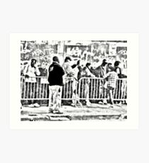 The Breakfast Line at Glide Art Print