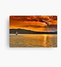 Sailing through the sun Canvas Print