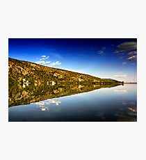 mirror mountain in Kastoria Lake (Makedonia, Greece) Photographic Print