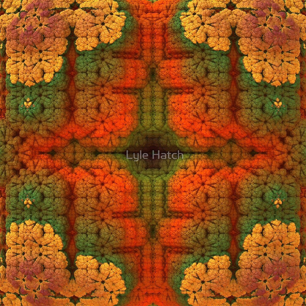 Fall Afghan Fractal by Lyle Hatch