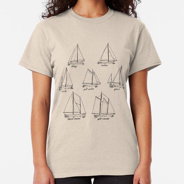 Sailboat Types Classic T-Shirt