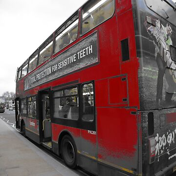 red double decker london's bus by mariettesar
