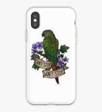 Can't Stop; Won't Stop (green-cheeked conure) iPhone Case