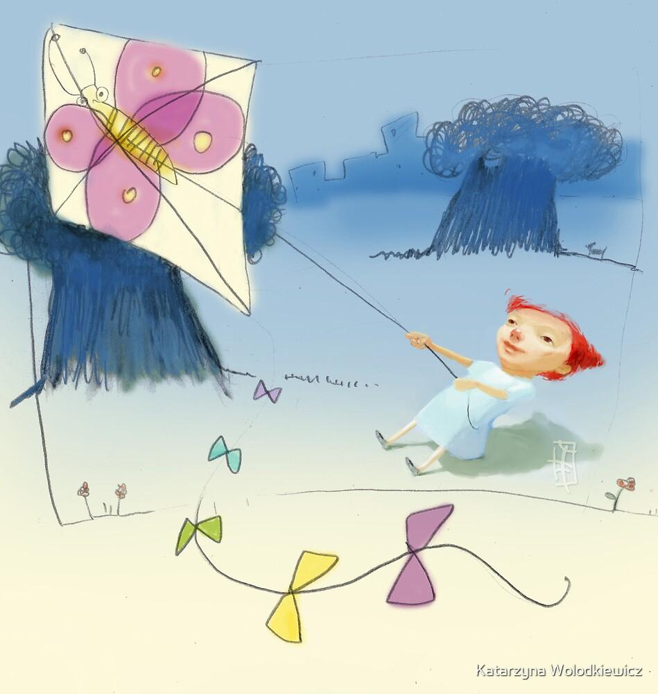 Kite in the park by Katarzyna Wolodkiewicz