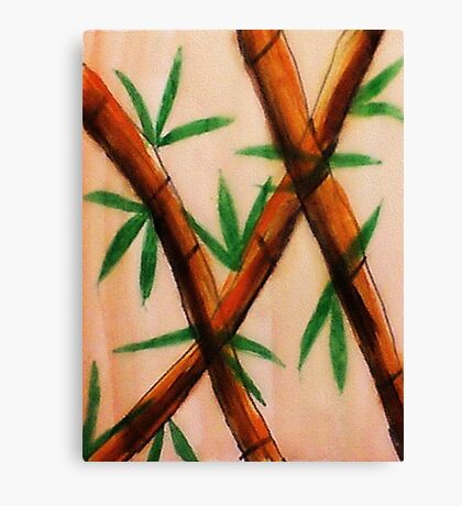 Bamboo,  4th version, watercolor Canvas Print