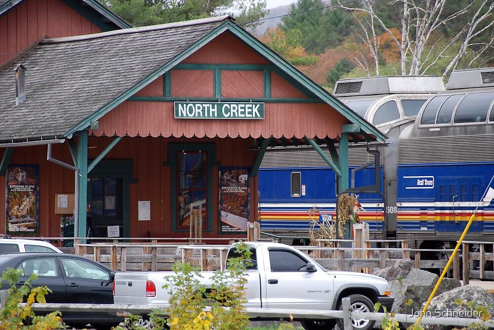 North Creek Railroad Station by John Schneider
