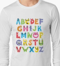 Alphabet Monsters Long Sleeve T-Shirt