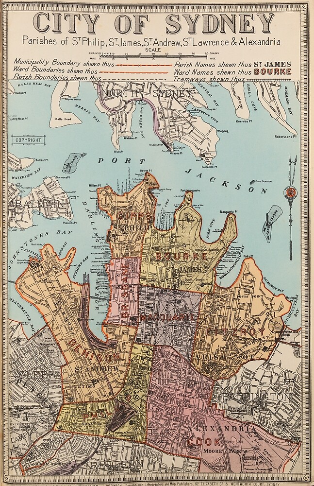 City of Sydney map by madewithslnsw