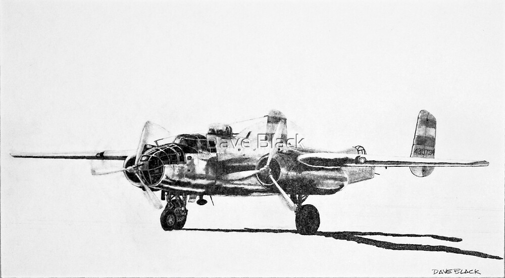 """B-25 """"Billy Mitchell"""" attack bomber by Dave Black"""