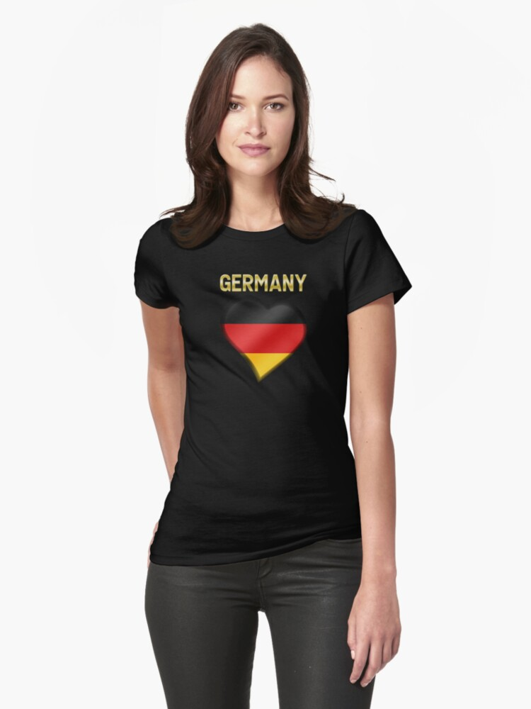 Germany - German Flag Heart & Text - Metallic by graphix