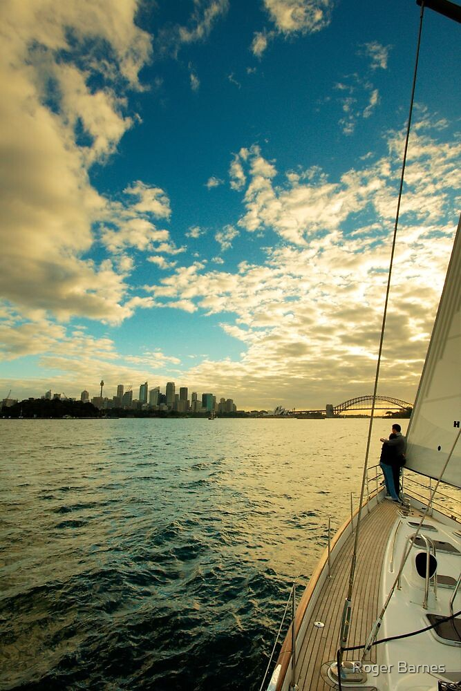 Sailing on Sydney Harbour by Roger Barnes