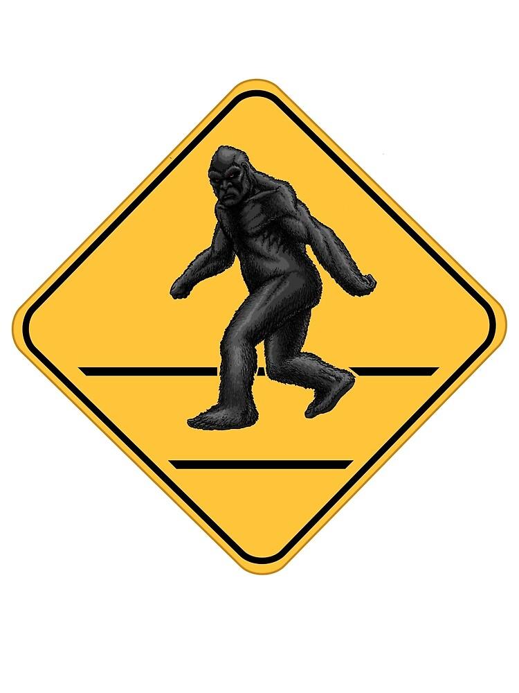 Caution! Bigfoot Crossing! by Ninjangulo