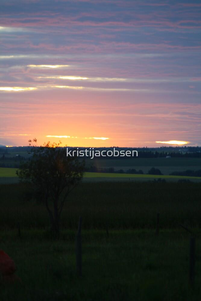 Prairie Sunset by kristijacobsen