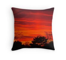 Burning Bushes Throw Pillow