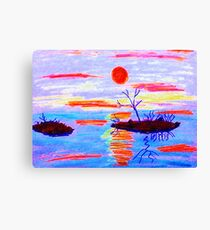 High water, watercolor Canvas Print
