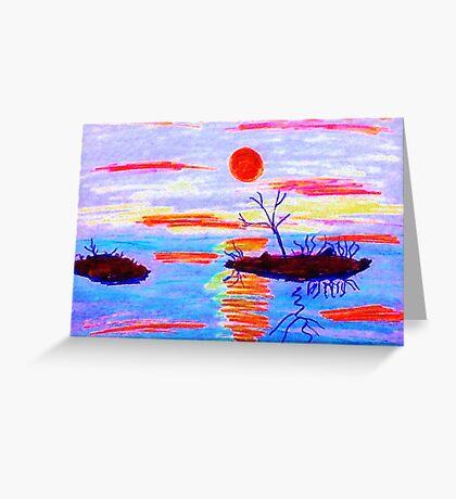 High water, watercolor Greeting Card