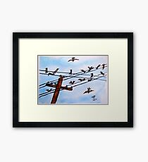 On a Wire Framed Print