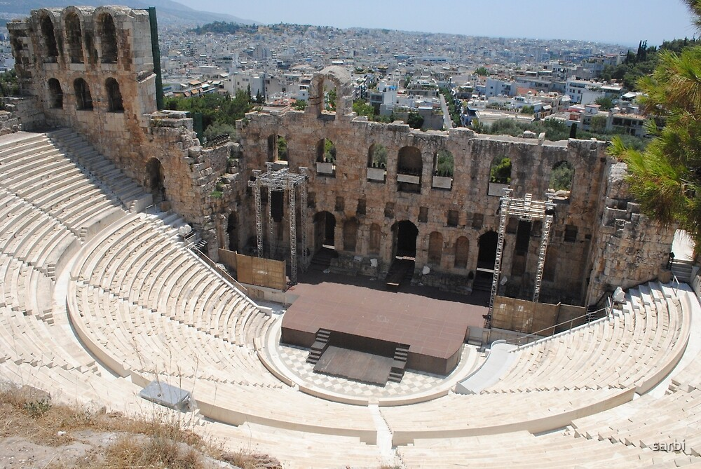 Amphitheatre, Athens Greece. by sarbi