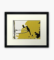 sitting stationary  Framed Print