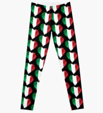 Italian Flag - Italy - Heart Leggings