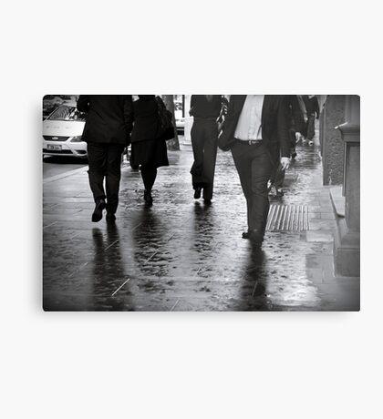 Rain Walk Metal Print