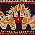 Yellow Pattern with horses by Bindu-Juneja