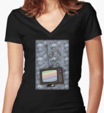 Lovey Tv Women's Fitted V-Neck T-Shirt