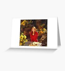 Amy Pond Doctor Who Greeting Card