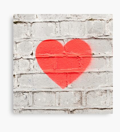 Heart on the Wall Canvas Print