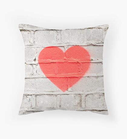 Heart on the Wall Throw Pillow