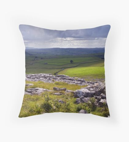 Crummackdale - The Yorkshire Dales Throw Pillow