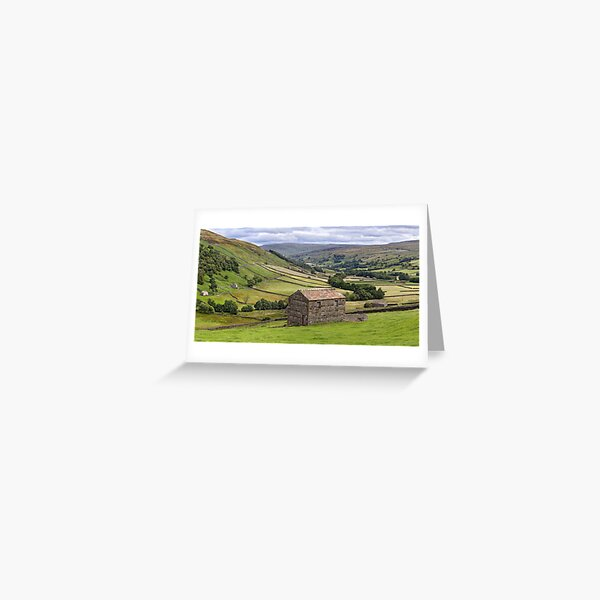Swaledale Panorama - The Yorkshire Dales Greeting Card