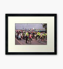 London Traffic Police Cyclists Framed Print
