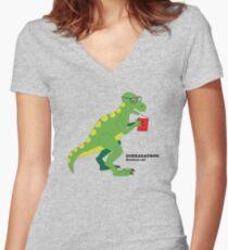 Dorkasaurus Women's Fitted V-Neck T-Shirt
